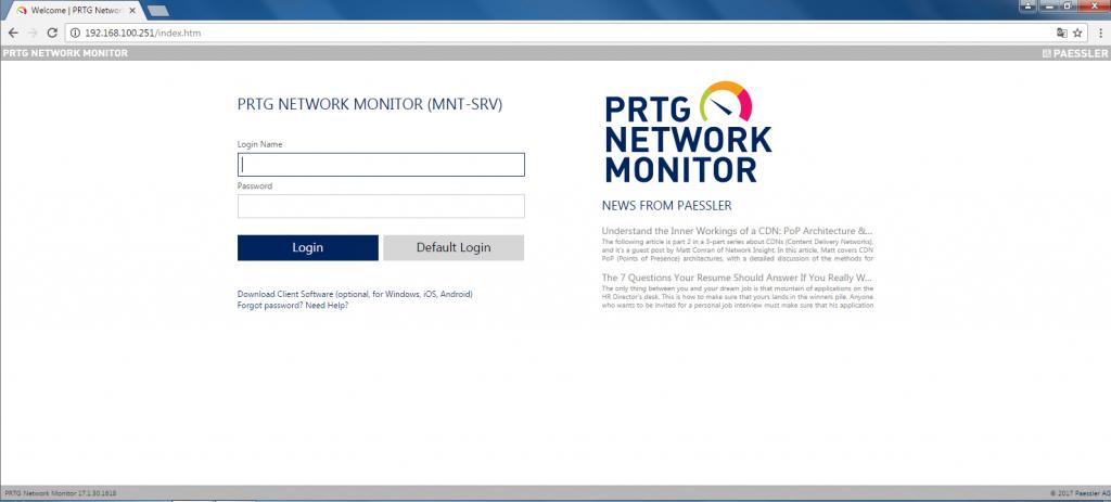 Cài đặt PRTG Network Monitor và giám sát thiết bị bằng SNMP - www