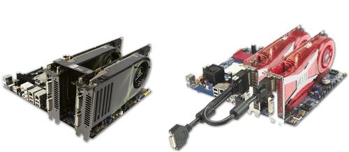 ... Là khả năng ghép 2 hoặc nhiều card màn hình cùng loại chạy song song,  nhờ đó hiệu năng sẽ nâng cao đáng kể. Để ghép nói, sử dụng cáp  SLI/Crossfire.
