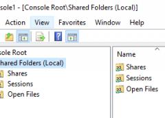 Trình quản trị File Server sử dụng dịch vụ Shared Folders